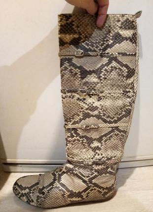 Сапоги alessandro dell'acqua из натуральной кожи змеи