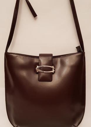 Cerruti! роскошная дизайнерская кожаная сумка crossbody красивого шоколадного цвета