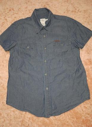 Мужская брендовая коттоновая лёгкая тенниска рубашка calvin klein
