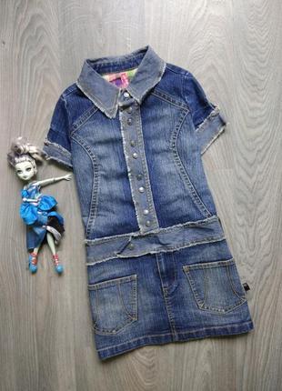 8-9лет джинсовое платье сарафан didi