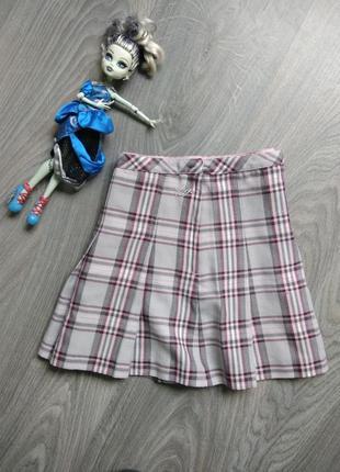 8л h&m юбка школьная спідниця