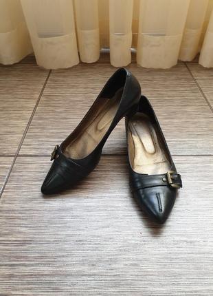 Стильные туфли лодочки от topshop, кожа