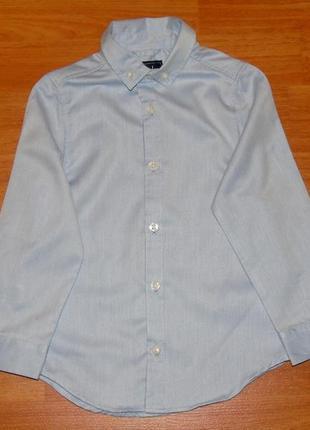Голубая рубашка rebel,ребел, 3-4 года, 104,110