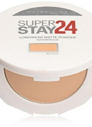 Водостойкая матирующая  пудра maybelline superstay 24hr waterproof powder 21 nude