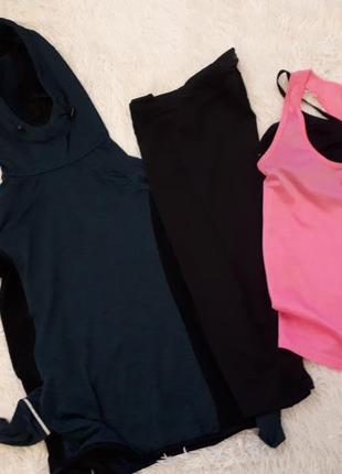 Спортивный костюм/ комплект для спорта/кофта  лосины майка топ /workout  /из 4 лотов