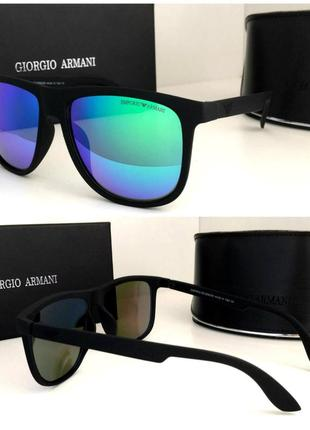 Новинка 2019 мужские солнцезащитные очки зеркальные в матовой оправе