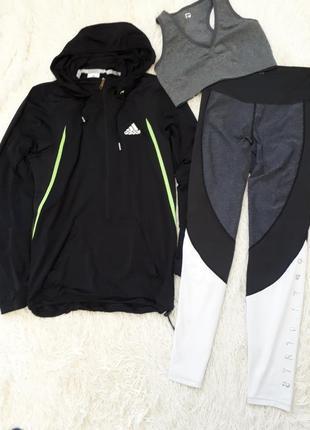 Спортивный костюм/ комплект для спорта/кофта лосины топ /h&m/adidas