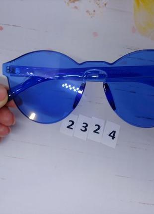 Синие солнцезащитные очки без оправы