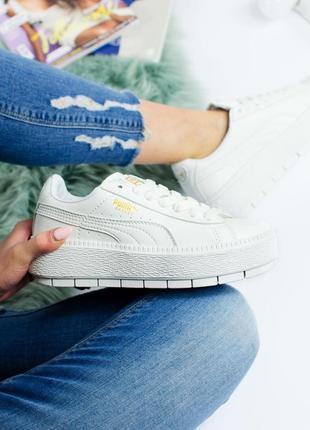 Шикарные женские кроссовки puma creeper white