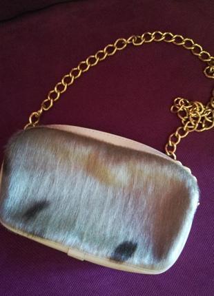 Поясная кожаная сумочка