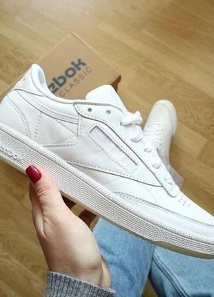 Оригинал reebok club с85 white кросовки