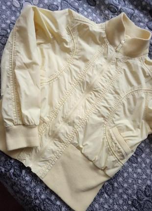 Куртка ветровка жёлтая2 фото