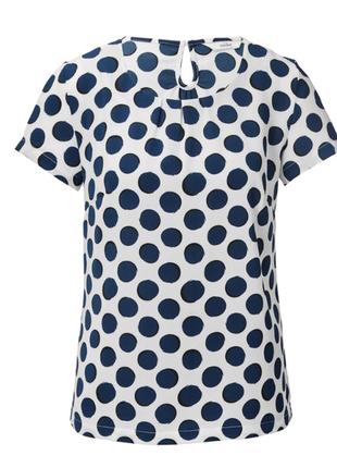 Стильная блузка  в большой горох от tchibo (германия), размер 36 евро