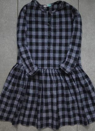 Стильное платье на 6лет/ платье в клеточку