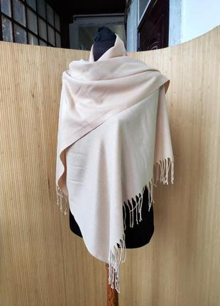 Бежевый палантин / шарф / хиджаб вискоза