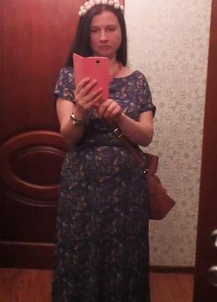 Гарна довга сукня з резинкою.
