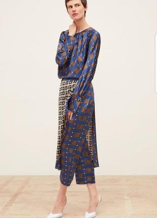 Блуза и брюки с геометрическим принтом zara размер s-m