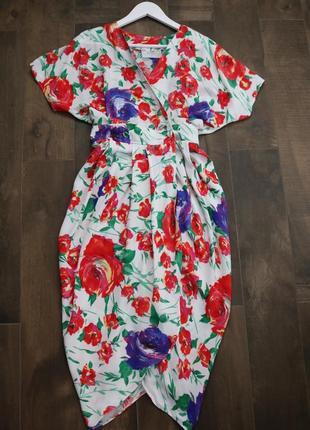 Шикарное цветочное платье в винтажном стиле от wallis, можно как тунику носить. новое!