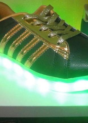 Светящиеся кроссовки шалунишка с зарядкой