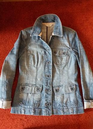 Стильный джинсовый женский пиджак next
