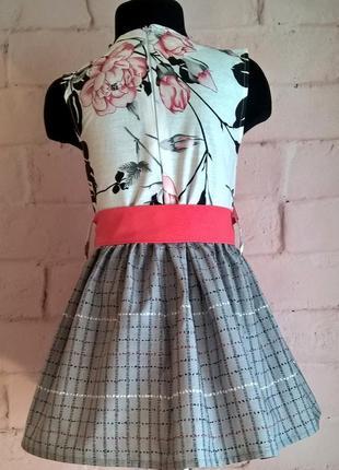 Платье для девочки. платье детское с цветочным принтом, 100% хлопок 110-1404 фото