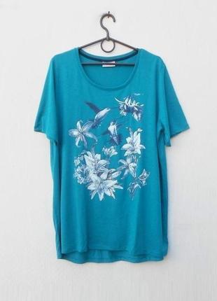 Трикотажная футболка с принтом с рисунком