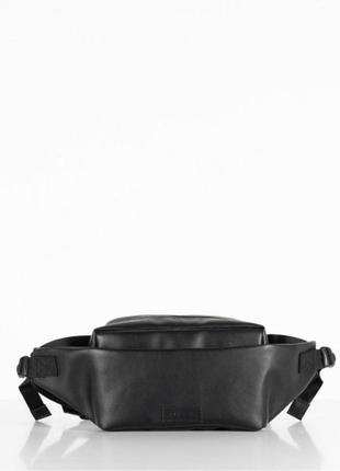 Поясная сумка harvest - cross town эко-кожа, черная