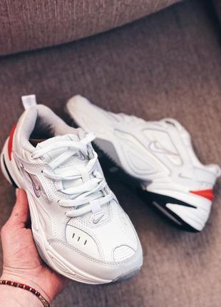 Женские кроссовки  белые оранж8 фото