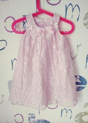 Платье monsoon новое нежное девочка 18-24 мес. фуксия