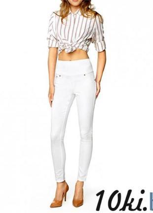 Белые штаны лосины котон с золотыми замками