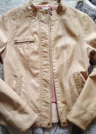 Куртка кожаная promod, косуха, кожанка, шкірянка