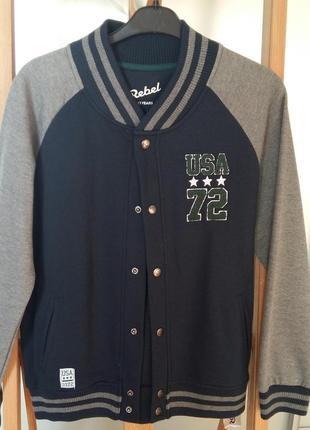 Куртка  бренд rebel на подростка12-13 лет