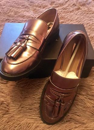 Туфли лоферы tahari р 40 {26см}1