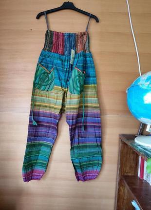 Шаровары этно стиль  с карманами
