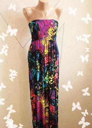 Платье макси на резинке3 фото