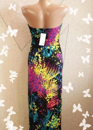 Платье макси на резинке4 фото
