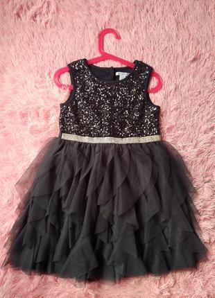 Платье primark графитовое девочка 5-6 лет (110-116см) как новое