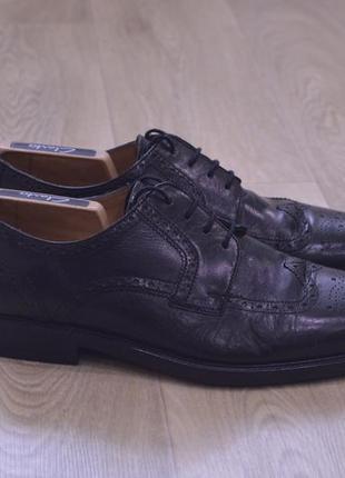 Clarks черные классические броги кожа оригинал англия мужские туфли