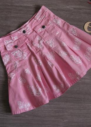 Коттоновая ( джинсовая) юбка для девочки на рост 158/ 164
