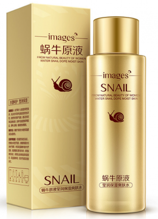 Увлажняющий тонер для лица images snail toner с муцином улитки 120 г