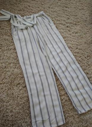 Стильные полосатые широкие брюки,tcm, p. 34-38