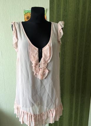 Пудровая блузка /туника