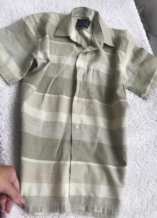 Рубашка на мальчика 10-11 лет aofu сша короткий рукав сорочка