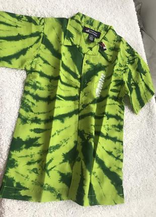 Яркая рубашка для мальчика на короткий рукав из сша freeway exchange 8-10 лет