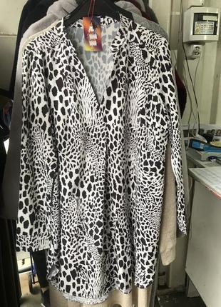 Удлиненная блузка больших размеров