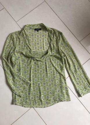 Блуза шелковая стильная модная дорогой бренд etro размер 38 или м