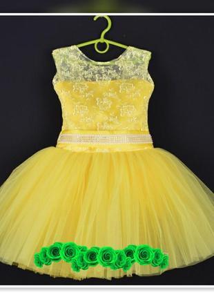 Платье пышное короткое