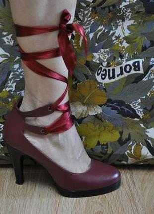 Невероятно красивые туфли р-р 37 из натуральной кожи jim walking