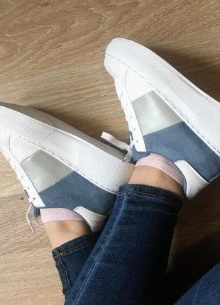 36-41 размер кроссы с замшевыми вставками