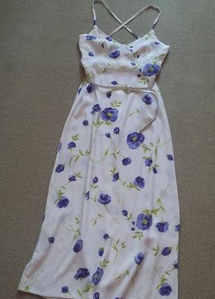 Красивое платье сарафан натуральное р 8